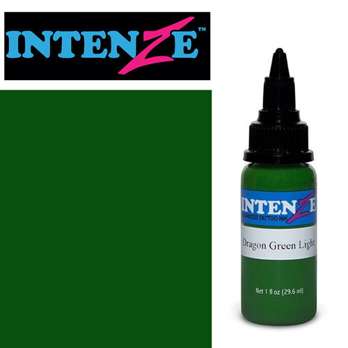 iTC Tattoo et Piercing - Encre INTENZE, stérile, 1 Oz (30ml),coloris :DRAGON Green Light