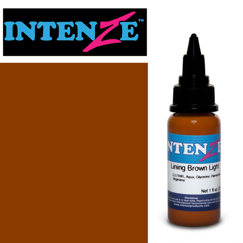 iTC Tattoo et Piercing - Encre INTENZE, stérile, 1 Oz (30ml),coloris :Lining Brown Light