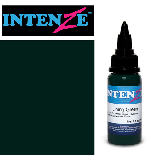 iTC Tattoo et Piercing - Encre INTENZE, stérile, 1 Oz (30ml),coloris :Lining Green