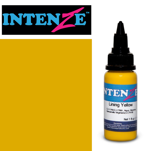 iTC Tattoo et Piercing - Encre INTENZE, stérile, 1 Oz (30ml),coloris :Lining Yellow