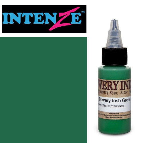 Encre INTENZE, stérile, 1 Oz (30ml),coloris : BOWERY Irish Green