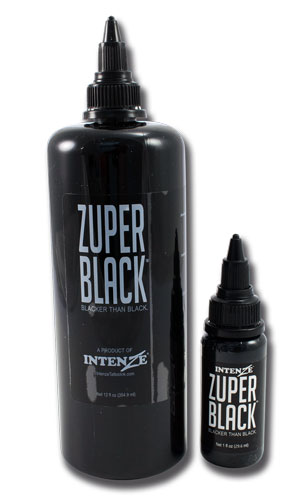 iTC Tattoo et Piercing - Encre INTENZE, stérile, 12 Oz (360ml)coloris :Zuperblack