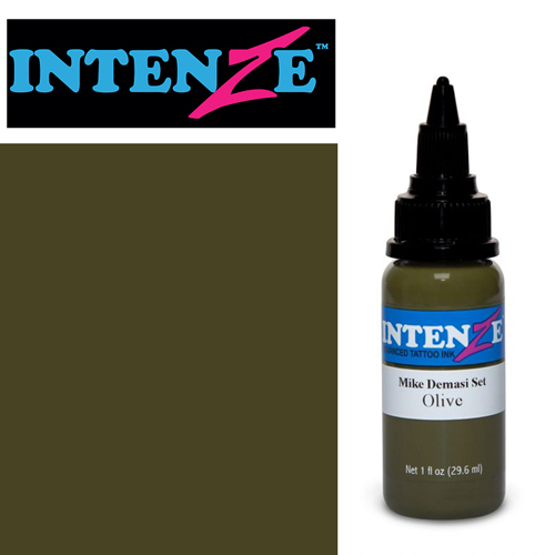 iTC Tattoo et Piercing - Encre INTENZE, stérile, 1 Oz (30ml),coloris : DEMASI Olive