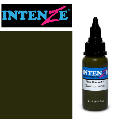 iTC Tattoo et Piercing - Encre INTENZE, stérile, 1 Oz (30ml),coloris : DEMASI Swamp Green