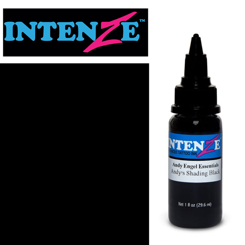 Encre INTENZE, stérile, 1 Oz (30ml),coloris :Andy's Shading Black