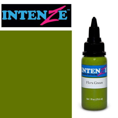 iTC Tattoo et Piercing - Encre INTENZE, stérile, 1 Oz (30ml),coloris :Flo's Green