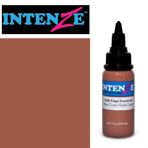 iTC Tattoo et Piercing - Encre INTENZE, stérile, 1 Oz (30ml),coloris :Skin Tone Flesh Dark