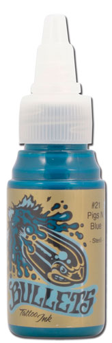 iTC Tattoo et Piercing - Encre BULLETS stérile 35ml, coloris PIGS N BLUE #21