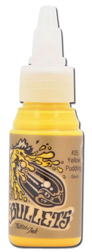iTC Tattoo et Piercing - Encre BULLETS stérile 35ml, coloris YELLOW PUDDING #25