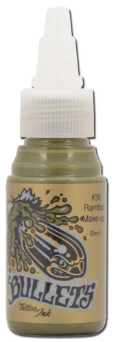 Encre BULLETS stérile 35ml, coloris RAMBOS MAKE UP #30