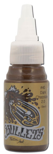 iTC Tattoo et Piercing - Encre BULLETS stérile 35ml, coloris DARK CHOCOLATE #40