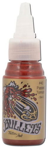 iTC Tattoo et Piercing - Encre BULLETS stérile 35ml, coloris PASSED TOMATO #42