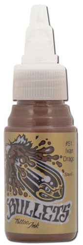 iTC Tattoo et Piercing - Encre BULLETS st�rile 35ml, coloris IVAN DRAGO #51