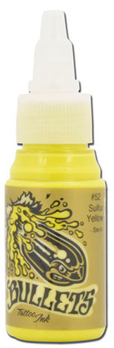 Encre BULLETS stérile 35ml, coloris SULFUR YELLOW #52