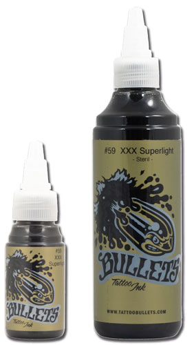 iTC Tattoo et Piercing - Encre BULLETS st�rile, coloris XXX SUPERLIGHT #59