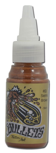 iTC Tattoo et Piercing - Encre BULLETS stérile 35ml, coloris SIENNA BROWN #63
