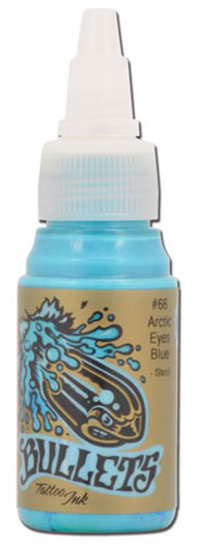 iTC Tattoo et Piercing - Encre BULLETS stérile 35ml, coloris ARCTIC EYES BLUE #66