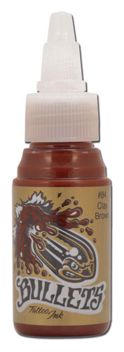 Encre BULLETS stérile 35ml, coloris CLAY BROWN #84
