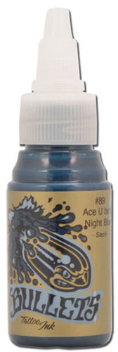 Encre BULLETS stérile 35ml, coloris ACE U BE'S NIGHT BLUE #89
