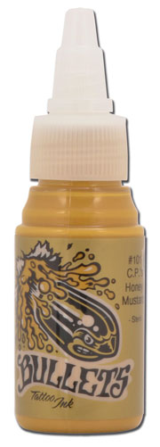 iTC Tattoo et Piercing - Encre BULLETS stérile 35ml, coloris C.P.'S HONEY MUSTARD #101