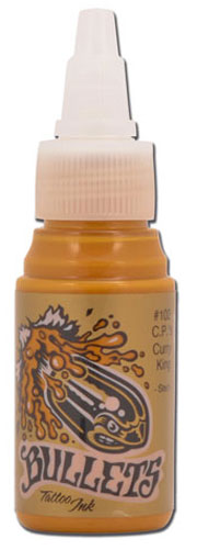iTC Tattoo et Piercing - Encre BULLETS stérile 35ml, coloris C.P.'S CURRY KING #102