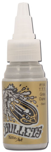 iTC Tattoo et Piercing - Encre BULLETS stérile 35ml, coloris T.T.T. GREY DANE #114