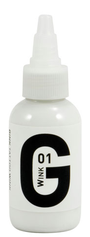 iTC Tattoo et Piercing - Encre GINK  stérile 50ml White N°1