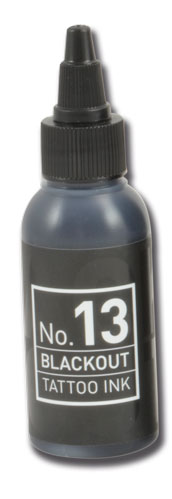 iTC Tattoo et Piercing - Encre CARBON BLACK N°13 BLACKOUT stérile 50ml