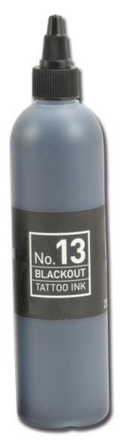 iTC Tattoo et Piercing - Encre CARBON BLACK N°13 BLACKOUT stérile 200ml