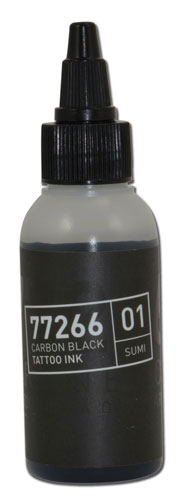 iTC Tattoo et Piercing - Encre BULLETS stérile 50ml 77266 CARBON BLACK 01 SUMI