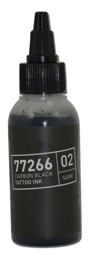 iTC Tattoo et Piercing - Encre BULLETS stérile 50ml 77266 CARBON BLACK 02 SUMI