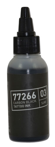 iTC Tattoo et Piercing - Encre BULLETS stérile 50ml 77266 CARBON BLACK 03 SUMI