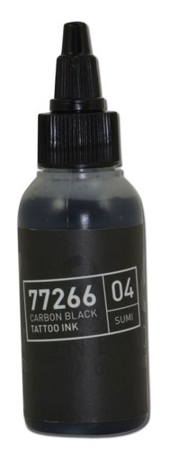 iTC Tattoo et Piercing - Encre BULLETS stérile 50ml 77266 CARBON BLACK 04 SUMI