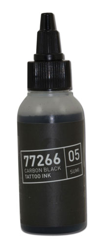 iTC Tattoo et Piercing - Encre BULLETS stérile 50ml 77266 CARBON BLACK 05 SUMI