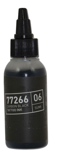 iTC Tattoo et Piercing - Encre BULLETS stérile 50ml 77266 CARBON BLACK 06 SUMI