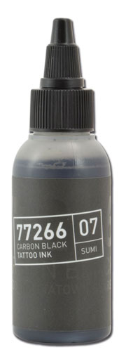 iTC Tattoo et Piercing - Encre BULLETS stérile 50ml 77266 CARBON BLACK 07 SUMI