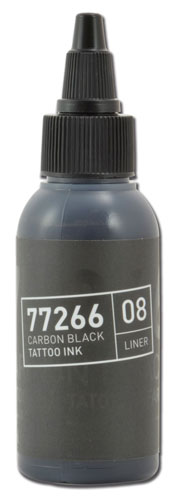 iTC Tattoo et Piercing - Encre BULLETS stérile 50ml 77266 CARBON BLACK 08 LINER