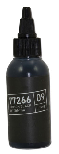 iTC Tattoo et Piercing - Encre BULLETS stérile 50ml 77266 CARBON BLACK 09 LINER