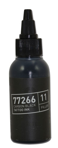 iTC Tattoo et Piercing - Encre BULLETS stérile 50ml 77266 CARBON BLACK 11 FILLER