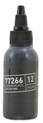Encre BULLETS stérile 50ml 77266 CARBON BLACK 12 FILLER