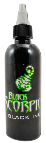 iTC Tattoo et Piercing - Encre BLACK SCORPION, stérile, 150ml, BLACK INK