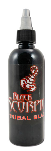 Encre BLACK SCORPION, stérile, 150ml, TRIBAL BLACK