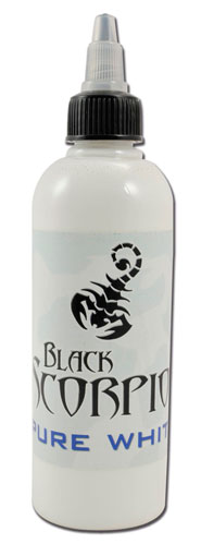 iTC Tattoo et Piercing - Encre BLACK SCORPION, stérile, PURE WHITE