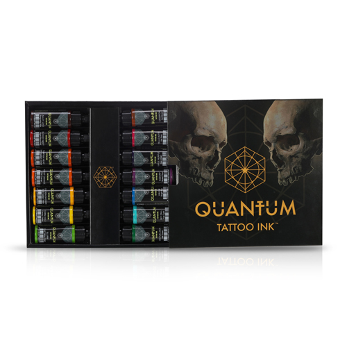 iTC Tattoo et Piercing - Encre QUANTUM, stérile, Set 14pcs Yakuza Colour 1OZ/30ml