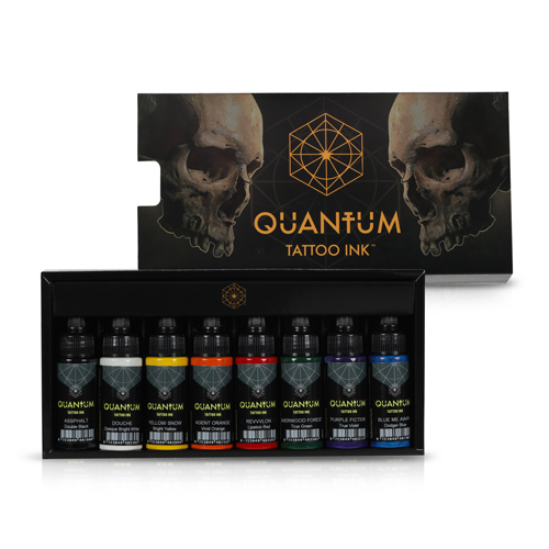 Encre QUANTUM, stérile, Set 8pcs Basic Colour 1OZ/30ml