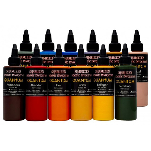 Encre QUANTUM, stérile, Set 12pcs Sharuzen Demonic Invocation 1OZ/30m