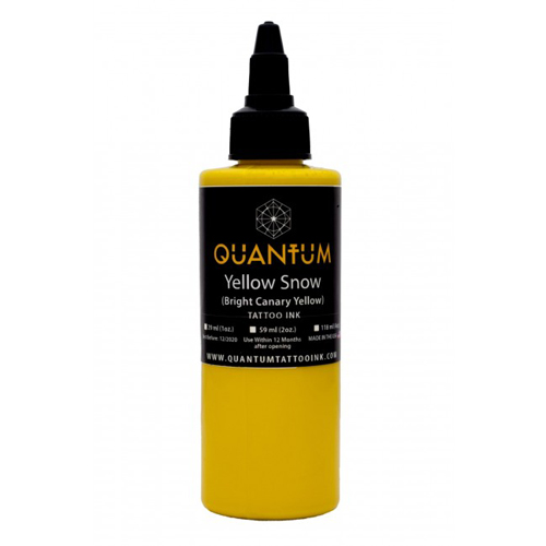 iTC Tattoo et Piercing - Encre QUANTUM, stérile, 1OZ/30ml Yellow Snow
