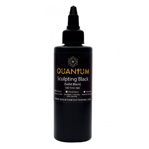 iTC Tattoo et Piercing - Encre QUANTUM, stérile, 1OZ/30ml Sculpting Black