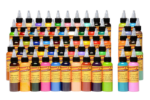 iTC Tattoo et Piercing - Encre ETERNAL, stérile Set Gold 60pcs 1OZ/29ml