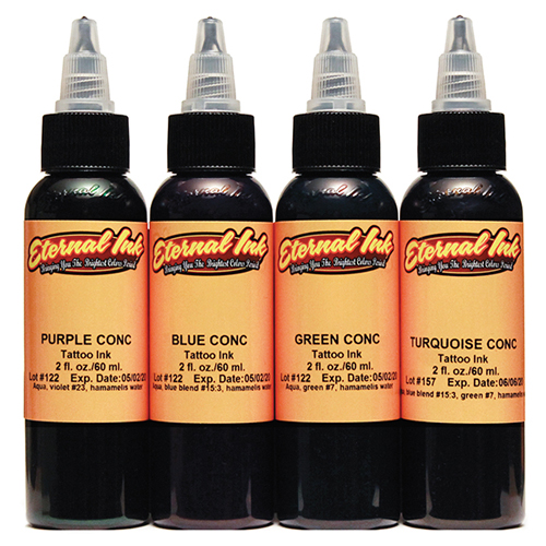iTC Tattoo et Piercing - Encre ETERNAL, stérile Set Concentrates 4pcs 1OZ/29ml